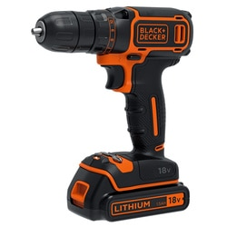 Black and Decker - 18V frcsavaroz 400mA tlt 2 akku koffer - BDCDC18KB