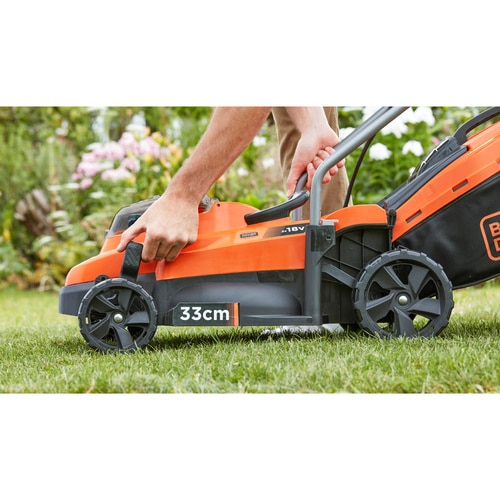 Black and Decker - 33cm Cordless 2 x 18V 25Ah Compact Mower - BCMW3318L2