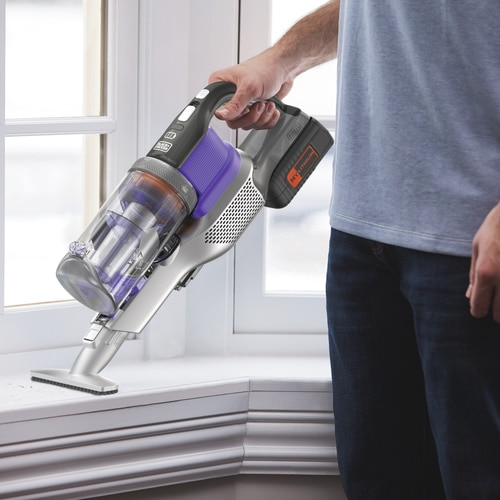 Black and Decker - 36V 4in1 Cordless POWERSERIES Extreme Pet Vacuum Cleaner - BHFEV362DP