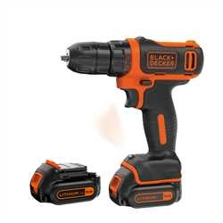 Black and Decker - 108V Kompakt LiIon Akkus frcsavaorz kofferben - BDCDD12KB