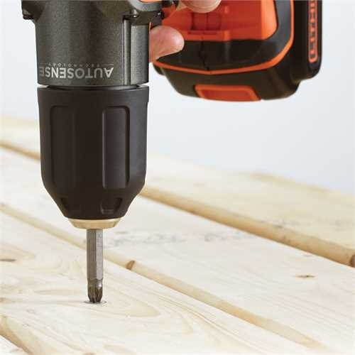 Black and Decker - 18V Frcsavaroz  AutosenseAutoselect Technolgival - ASD18K