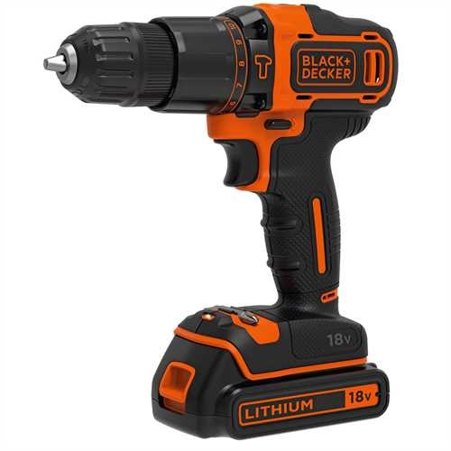 Black and Decker - 18V 2 sebessges tvefr 400mA tlt1 akku koffer - BDCHD18K