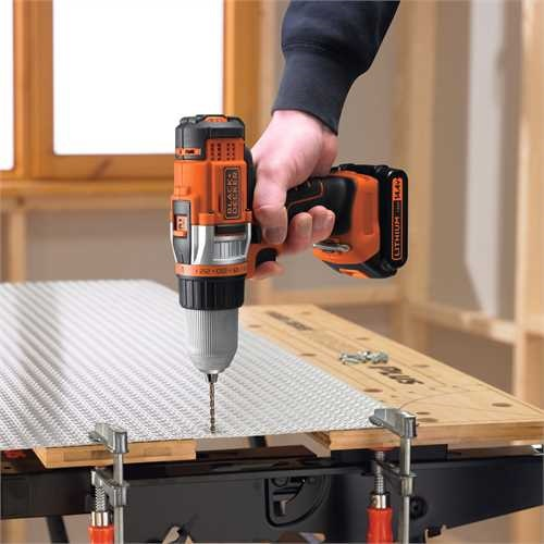 Black and Decker - 144V Nagyteljestmny LiIon 2 sebessges Frcsavaroz - EGBHP146BK